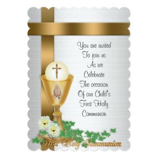 """First Communion invitation 5"""" X 7"""" Invitation Card"""