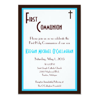 "First Communion Invitation - Boy 3.5"" X 5"" Invitation Card"