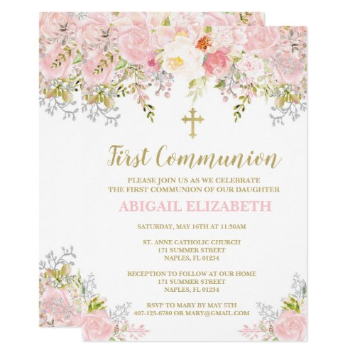 First Communion Invitation First Holy Communion Invitation