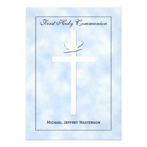 First Communion Invitation for Boys