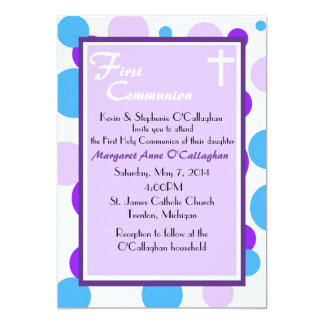 First Communion Invitation - Girl