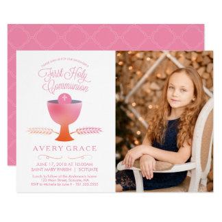 First Communion Invitation - Girl's Picture Invite