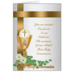 First communion invitation greeting cards