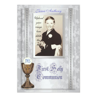 First Communion Invitation with photo