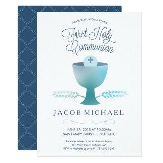 First Communion Invite - Boy's 1st Holy Communion