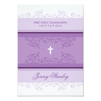 FIRST COMMUNION INVITES :: curls 1P