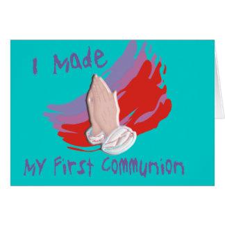 First Communion Kids Shirts & Gifts Card