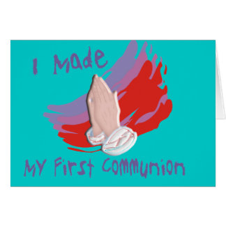 First Communion Kids Shirts & Gifts Greeting Cards