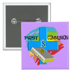 First Communion Kids T-Shirts & Gifts Button