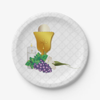 First Communion Paper Plate