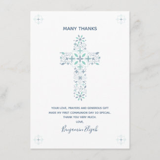 First Communion Personalized Thank You Card Notes