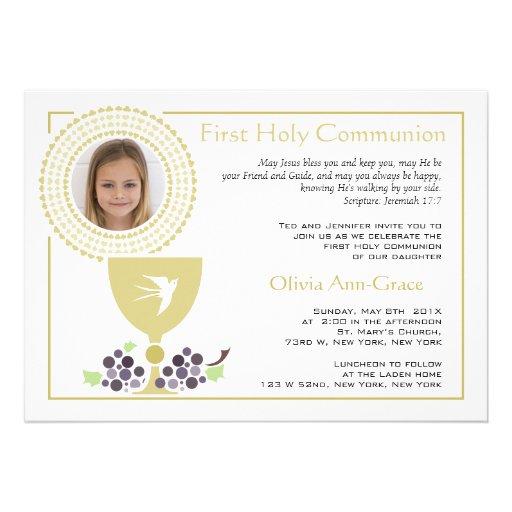 First Communion Photo Invitation