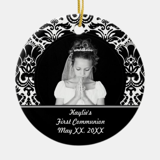 First Communion Photo Ornament