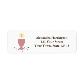 First Communion, Pink Chalice Label