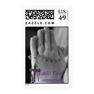 First communion postage stamp