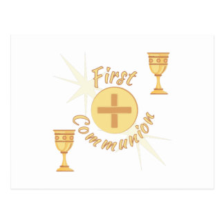First Communion Postcard