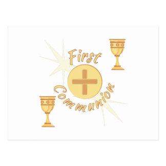 First Communion Postcard