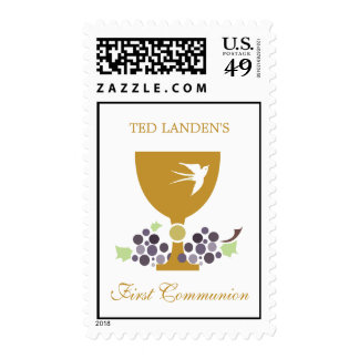 First Communion Stamps  |  Gold
