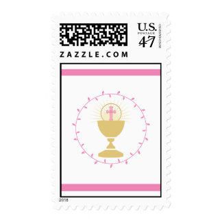 First Communion Stamps  |  Pink