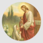 First Communion Stickers: Eucharist in All Things Classic Round Sticker