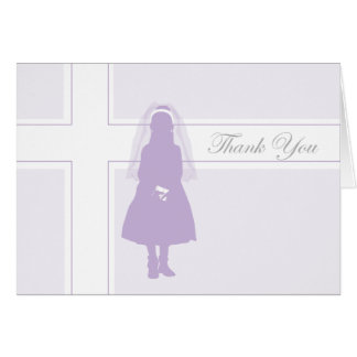 First Communion Thank You Card  |  Girl