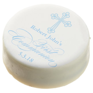 First Communion White Chocolate Dipped Oreo Favor