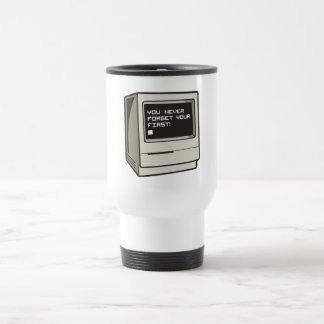 First Computer Retro 15 Oz Stainless Steel Travel Mug