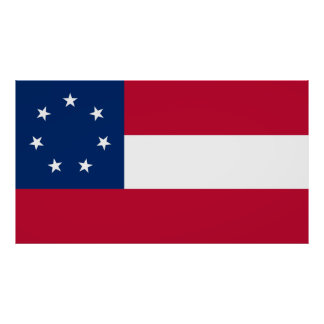 First Confederate Navy Ensign,1861–1863 Poster