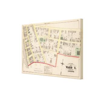 First Congregational Church Atlas Map Canvas Print
