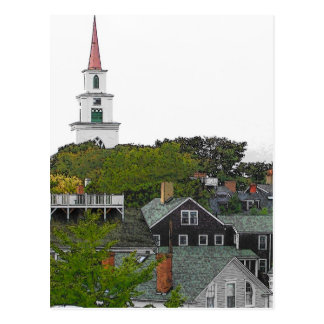 First Congregational Church -VINTAGE LOOK Postcard