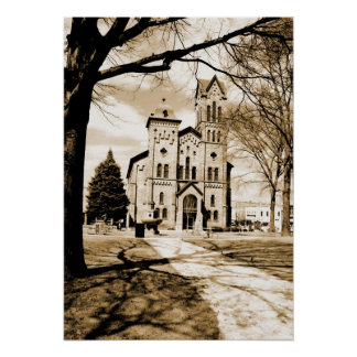 First Congregational in Sepia Poster