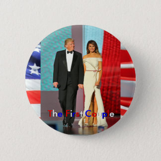 First Couple Donald and Melania Trump Inauguration Button