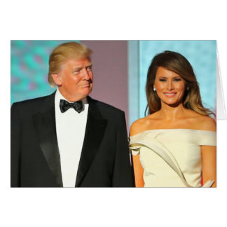 First Couple Donald and Melania Trump Inauguration Card