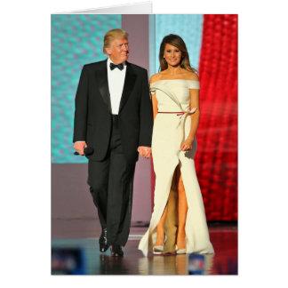 First Couple Donald and Melania Trump Liberty Ball Card