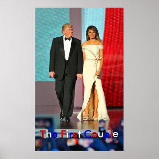First Couple Donald and Melania Trump Liberty Ball Poster