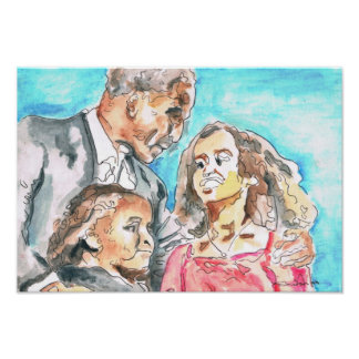First Dad Water Color Painting Poster