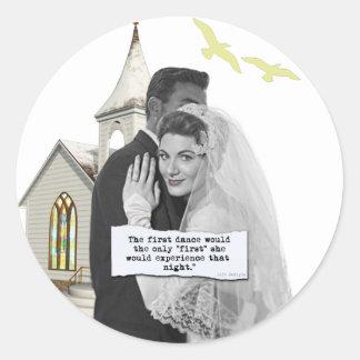 First Dance Bride Classic Round Sticker