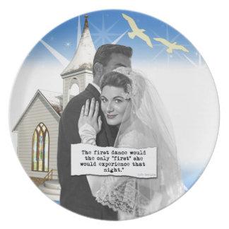 First Dance Bride Dinner Plate
