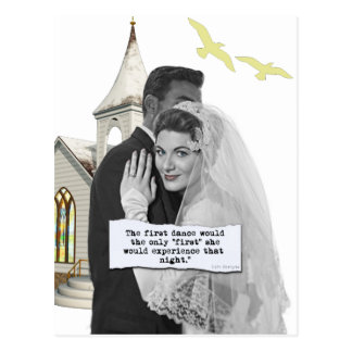 First Dance Bride Postcard