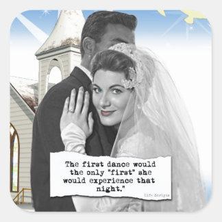First Dance Bride Square Sticker