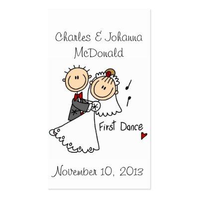 First Dance Business Card