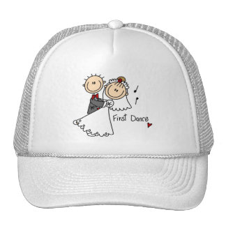 First Dance Wedding Tshirts and Gifts Mesh Hats