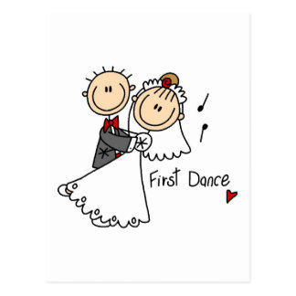 First Dance Wedding Tshirts and Gifts Postcard