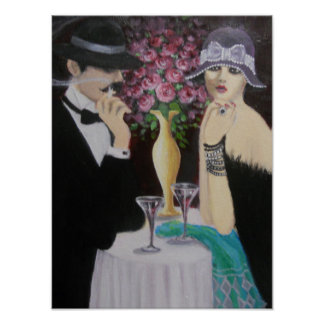 FIRST DATE, ART DECO POSTER