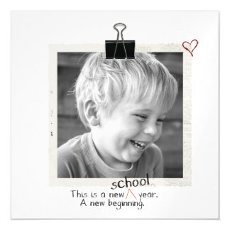 First day back to school photo Photo thin magnets
