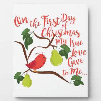 First Day Christmas Plaque