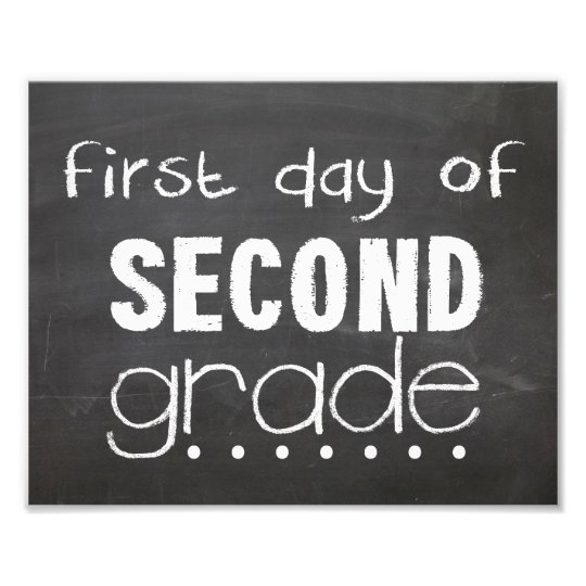 picture about First Day of Second Grade Printable Sign known as Initially Working day of 2nd Quality Chalkboard Indicator