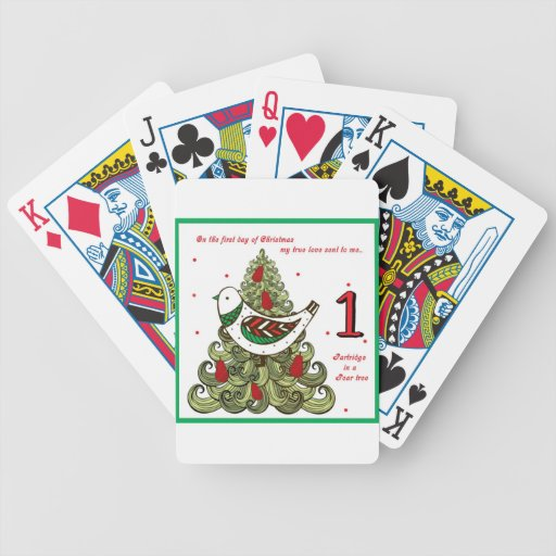 First Day of Christmas Bicycle Card Deck