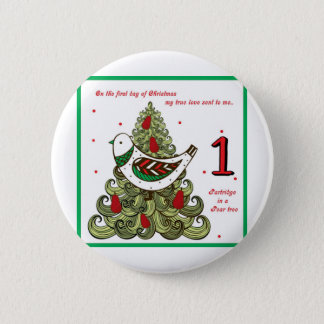 First Day of Christmas Button