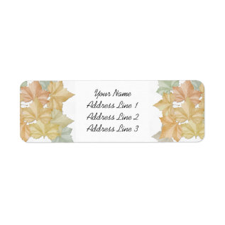 First Day Of Fall Autumn Leaves Address Name Tag at Zazzle
